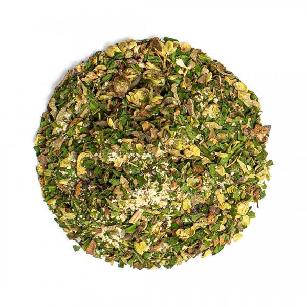 Bruschetta und Pesto, grün